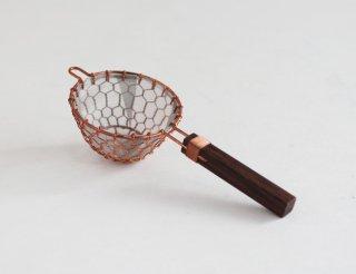 TEA STRAINER ローズウッド 銅
