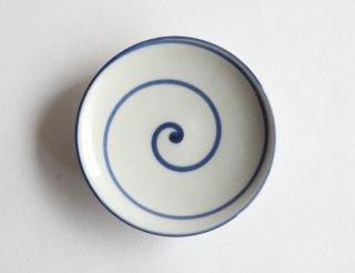 豆皿 渦巻き