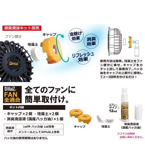 三愛空調服WIND ZONE専用 デオドラントキット 9910の取り付けイメージ図