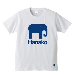 象のはな子 Tシャツ(あお)