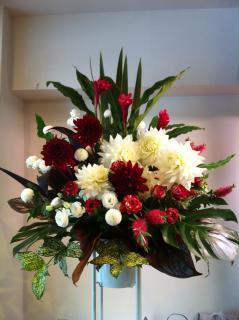 お祝いスタンド花/紅白