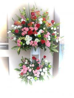 お祝い2段スタンド花/ピンク系