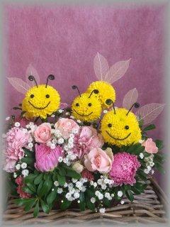 生花アニマルアレンジ/みっつ蜂
