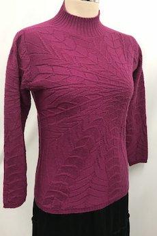 定価13,000円→1,990円(税抜)<br>ウール100%ハイネックセーター(ピンク系)Mサイズ