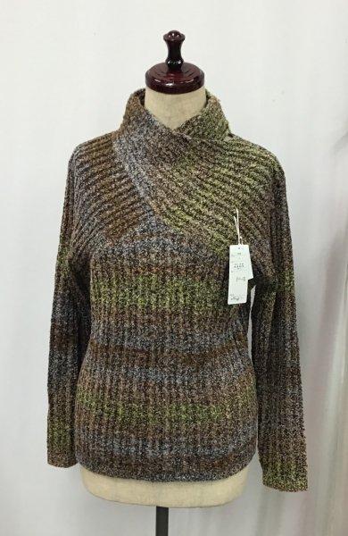 2000円!!<br>デザインニットセーター(ブラウン系)フリーサイズ