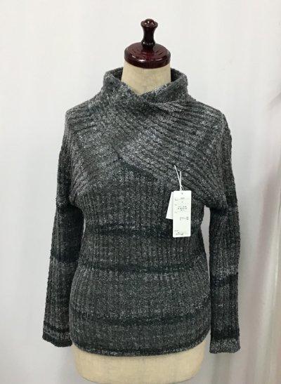 デザインニットセーター(グレー系)フリーサイズ