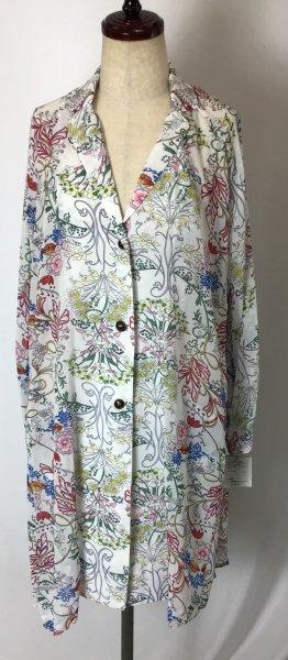 新品☆レトロな花柄が新鮮♪ブラウス風ロングジャケット