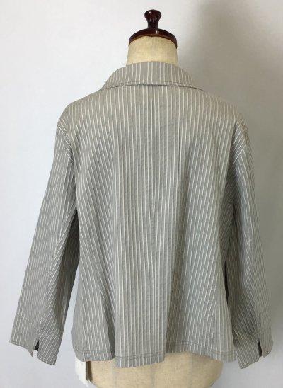 ☆三つ星ドレス☆ストライプ テーラード  ジャケット 大きいサイズ