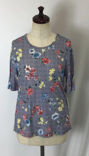 ☆新商品☆デザイン Tシャツ 綿100% 日本製 花柄