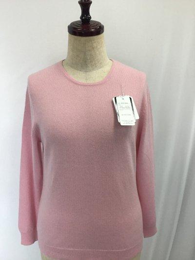 ☆カシミヤ 100%セーター☆優しいピンク