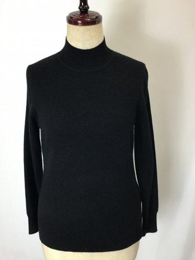 ☆カシミヤ100%セーター オシャレなブラック♪