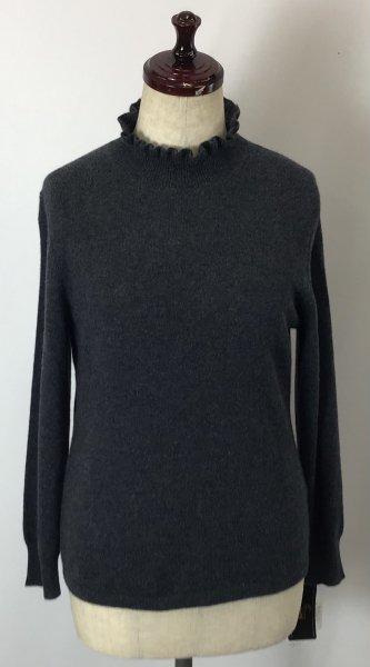 カシミヤ100% セーター 濃いグレー 柔らかくタッチ♪