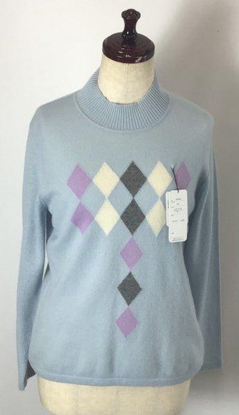 綺麗な水色( ^ω^ )カシミヤ100%セーター