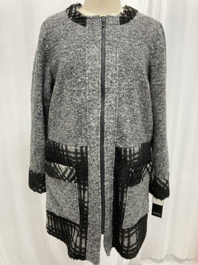 『新品・未使用』ウール混コート 1枚で決まる 三つ星ドレス☆