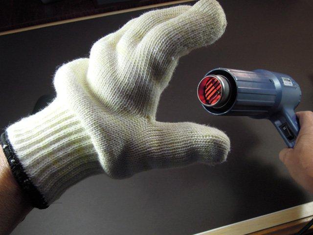 耐熱グローブ 熱くありません。