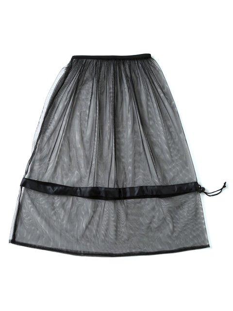 虫よけフェイスカバー(クモの巣ガード)黒いメッシュ素材で視界も良好。