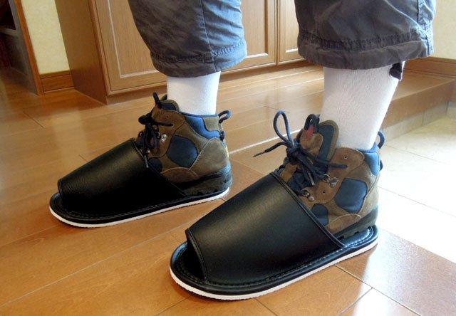 ジャンボスリッパ ギブス、靴のまま履ける大きなスリッパ