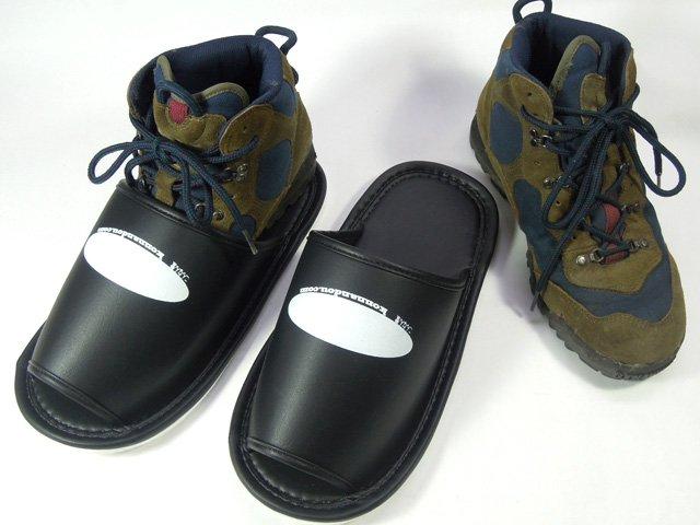 ジャンボスリッパ 登山靴のまま履けます