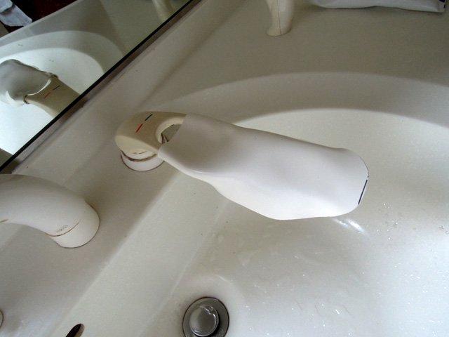 カイダック 洗面所の延長レバー製作
