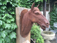 HORSE HEAD IRON PLAQUE