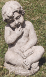 ST108 CHERUB WITH BOOK