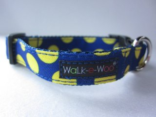 Walk-e-Woo Dot Collar Yellow&Blue (XS)