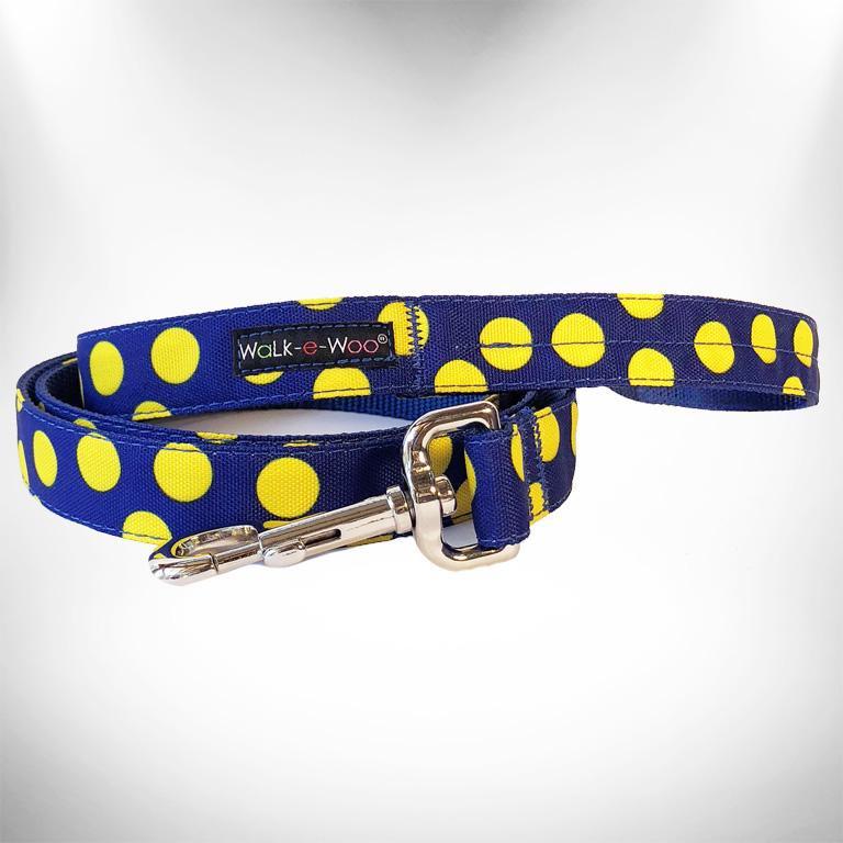 Walk-e-Woo Dot Lead Yellow&Blue (S)