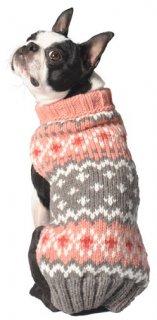 (XS)Chilly Dog Peach FairIsle