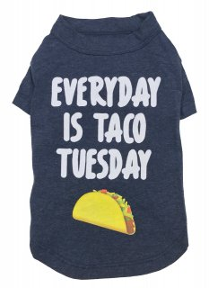 <img class='new_mark_img1' src='https://img.shop-pro.jp/img/new/icons26.gif' style='border:none;display:inline;margin:0px;padding:0px;width:auto;' />fab dog- Everyday Is Taco Tuesday Dog T-shirt (S) 小型—中型犬サイズ