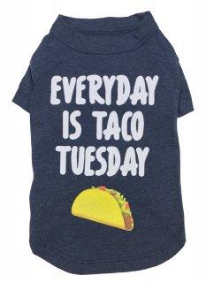 <img class='new_mark_img1' src='https://img.shop-pro.jp/img/new/icons26.gif' style='border:none;display:inline;margin:0px;padding:0px;width:auto;' />fab dog Everyday Is Taco Tuesday Dog T-shirt (M) 中型犬サイズ