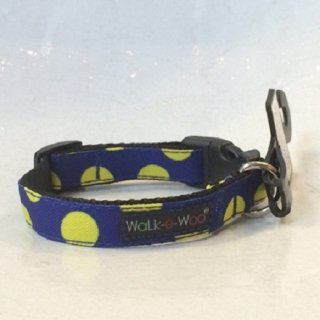 Walk-e-Woo Dot Collar Yellow&Blue (S)