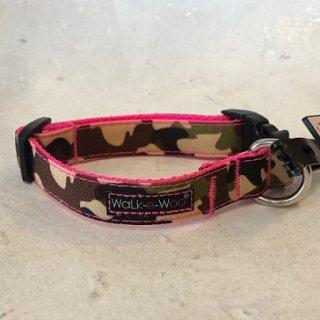 Walk-e-Woo Camo Collar PinkCamo (S)