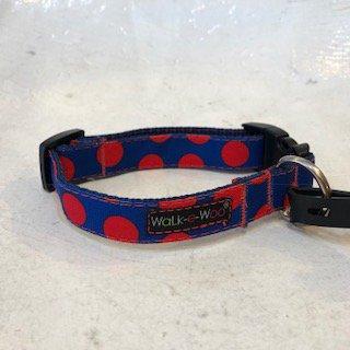 Walk-e-Woo Dot Collar Red&Blue (S)