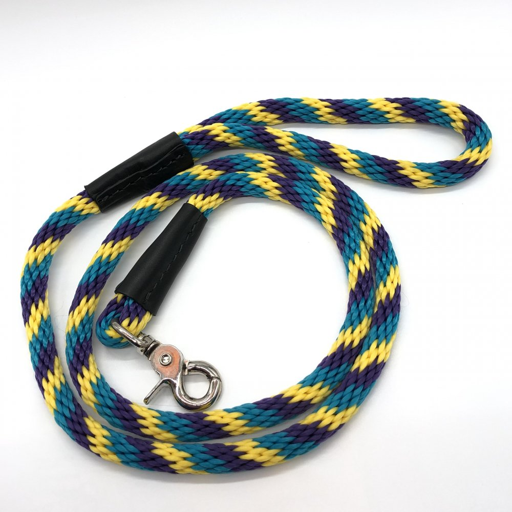 <img class='new_mark_img1' src='https://img.shop-pro.jp/img/new/icons14.gif' style='border:none;display:inline;margin:0px;padding:0px;width:auto;' />WEAVER - Rope leash (パープル/ターコイズ/イエローマルチ)