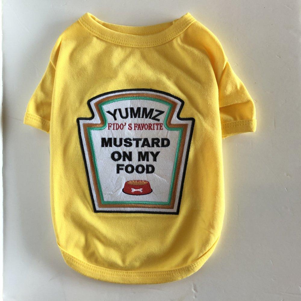 <img class='new_mark_img1' src='https://img.shop-pro.jp/img/new/icons14.gif' style='border:none;display:inline;margin:0px;padding:0px;width:auto;' />Mustard T-Shirt - マスタードTシャツ- 小型-中型犬サイズ(L)-(XL)