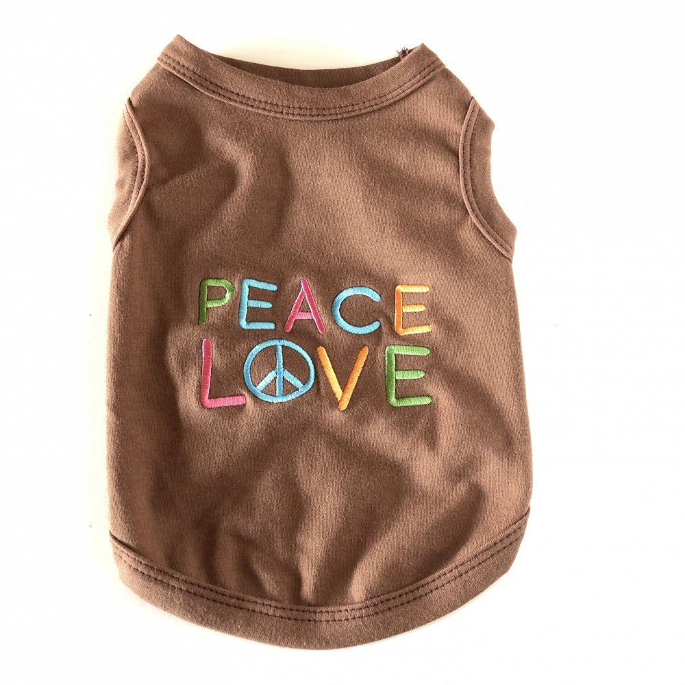 <img class='new_mark_img1' src='https://img.shop-pro.jp/img/new/icons14.gif' style='border:none;display:inline;margin:0px;padding:0px;width:auto;' />Peace Love Tank-(S)-(M)小型犬サイズ