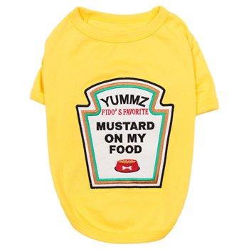 <img class='new_mark_img1' src='https://img.shop-pro.jp/img/new/icons14.gif' style='border:none;display:inline;margin:0px;padding:0px;width:auto;' />Mustard T-Shirt - マスタードTシャツ- 中型—大型犬サイズ(2XL)-(3XL)