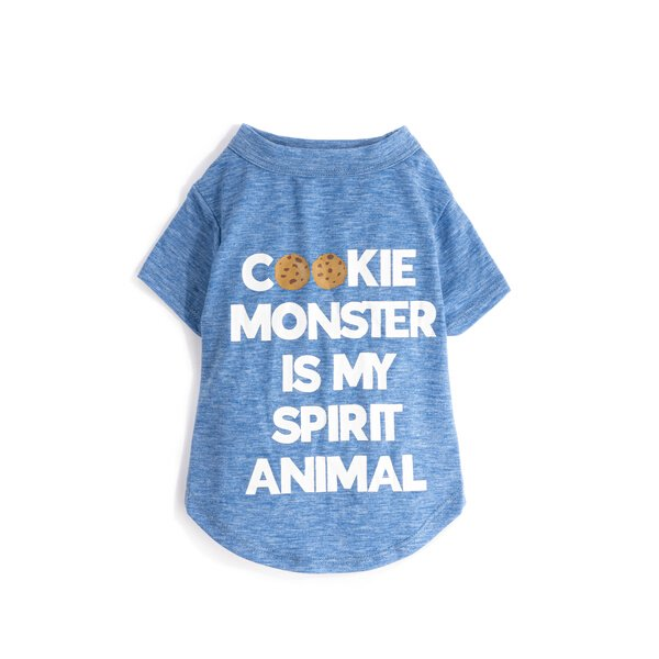 <img class='new_mark_img1' src='//img.shop-pro.jp/img/new/icons10.gif' style='border:none;display:inline;margin:0px;padding:0px;width:auto;' />Cookie Monster is my Spirit Animal T-シャツ 小型-中型犬サイズ