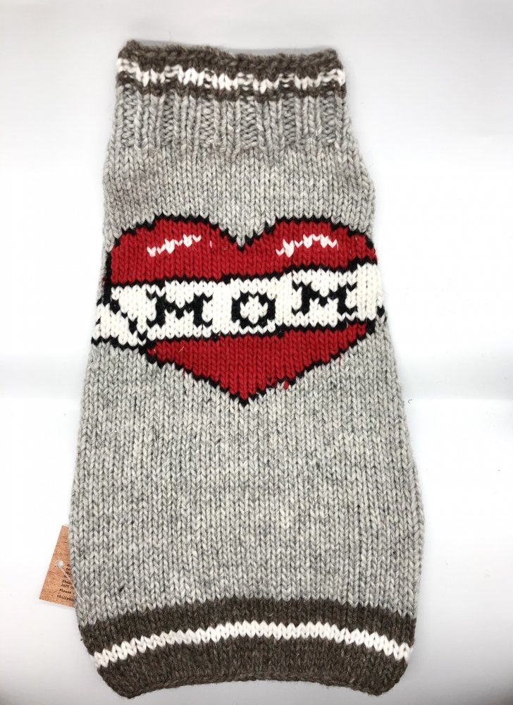 <img class='new_mark_img1' src='https://img.shop-pro.jp/img/new/icons14.gif' style='border:none;display:inline;margin:0px;padding:0px;width:auto;' />Chilly Dog sweaters- Tattooed Mom sweater (L)-(XL)中/大型犬サイズ