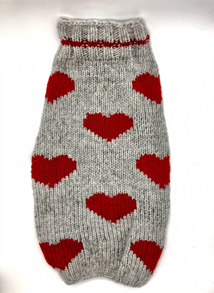 <img class='new_mark_img1' src='https://img.shop-pro.jp/img/new/icons14.gif' style='border:none;display:inline;margin:0px;padding:0px;width:auto;' />Chilly Dog sweaters- Red Heart sweater (L)-(XL)中/大型犬サイズ