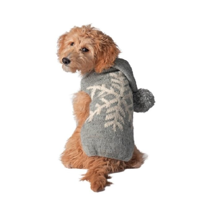 <img class='new_mark_img1' src='https://img.shop-pro.jp/img/new/icons14.gif' style='border:none;display:inline;margin:0px;padding:0px;width:auto;' />Chilly Dog - Alpaca Grey Snowflake sweater(XS)小型犬サイズ