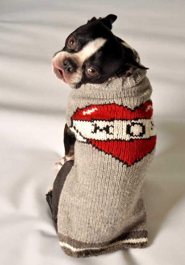 <img class='new_mark_img1' src='https://img.shop-pro.jp/img/new/icons14.gif' style='border:none;display:inline;margin:0px;padding:0px;width:auto;' />Chilly Dog sweaters- Tattooed Mom sweater (S)-(M)小型犬サイズ