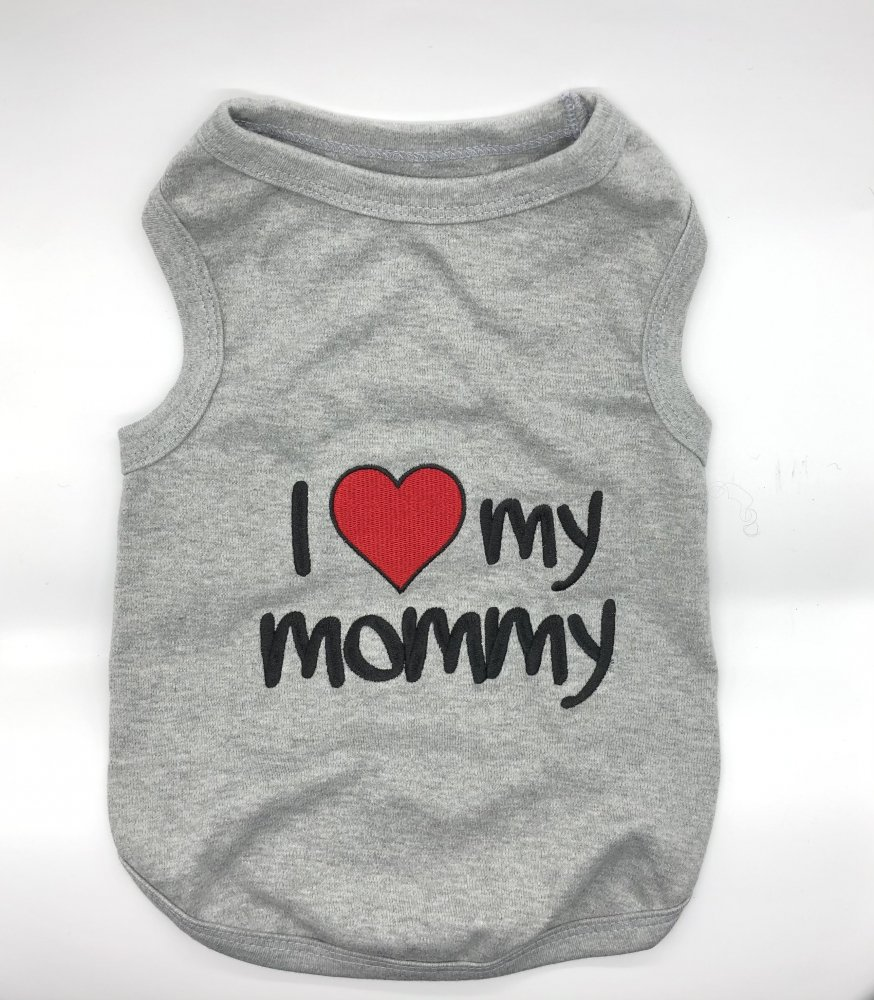 <img class='new_mark_img1' src='https://img.shop-pro.jp/img/new/icons14.gif' style='border:none;display:inline;margin:0px;padding:0px;width:auto;' />I Love My Mommy Tank-(S)-(M)小型犬サイズ