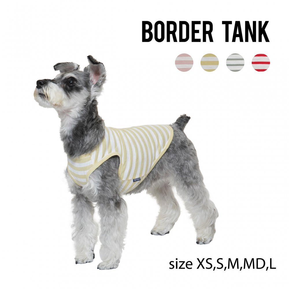 <img class='new_mark_img1' src='https://img.shop-pro.jp/img/new/icons14.gif' style='border:none;display:inline;margin:0px;padding:0px;width:auto;' />Border Tank -小型-中型犬サイズ S,M,L ・Mandarine Brothers