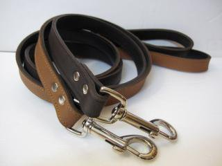 RN Plain Leather Lead Choko&Chestnuts (M)