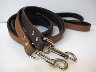 RN Plain Leather Lead チョコレートブラウン&チェスナッツブラウン (M)サイズ