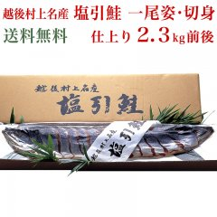 ◆期間限定特別価格◆ 越後村上名産 塩引鮭 一尾姿 仕上り2.3kg前後 切身 真空パック 村上 鮭 シャケ 切り身 1尾 お取り寄せ ギフト 贈答 送料無料