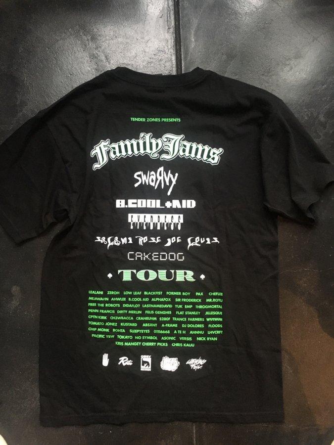再入荷しました。FAMILY JAMS T shirts (Cakedog / Swarvy/B.cool +aid