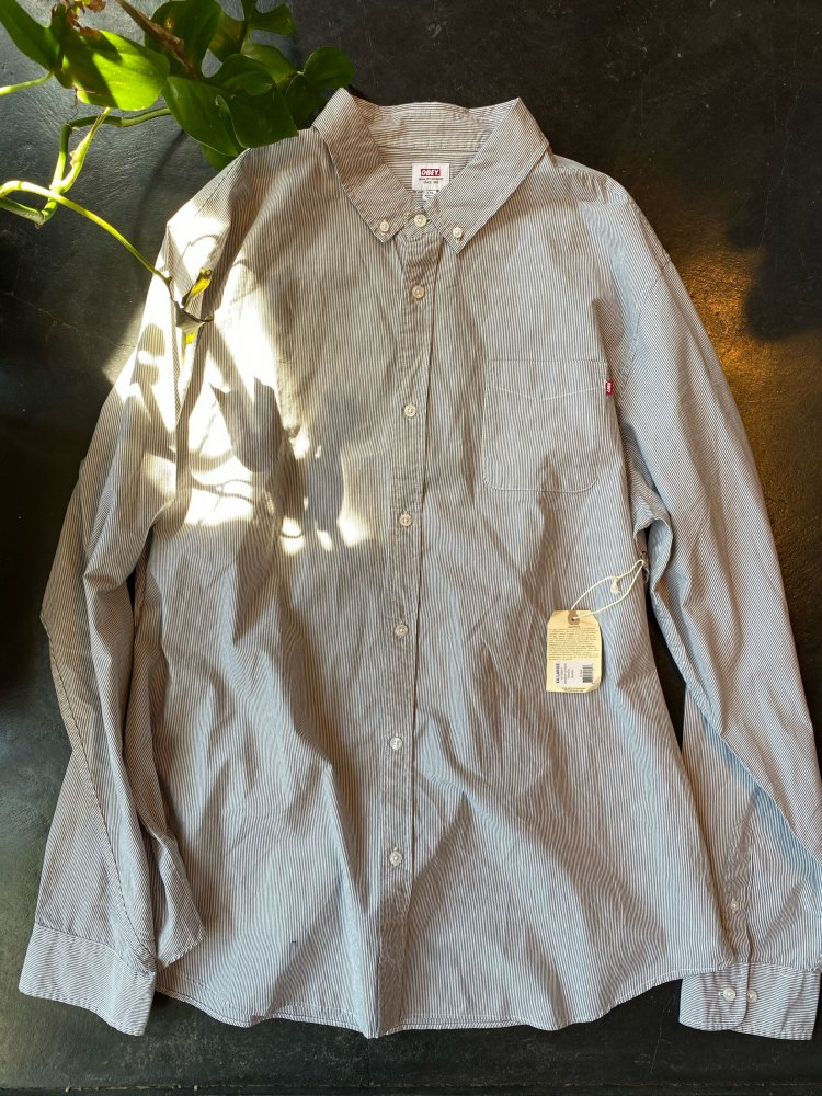 OBEY Cotton Stripe Shirts / New 2XL