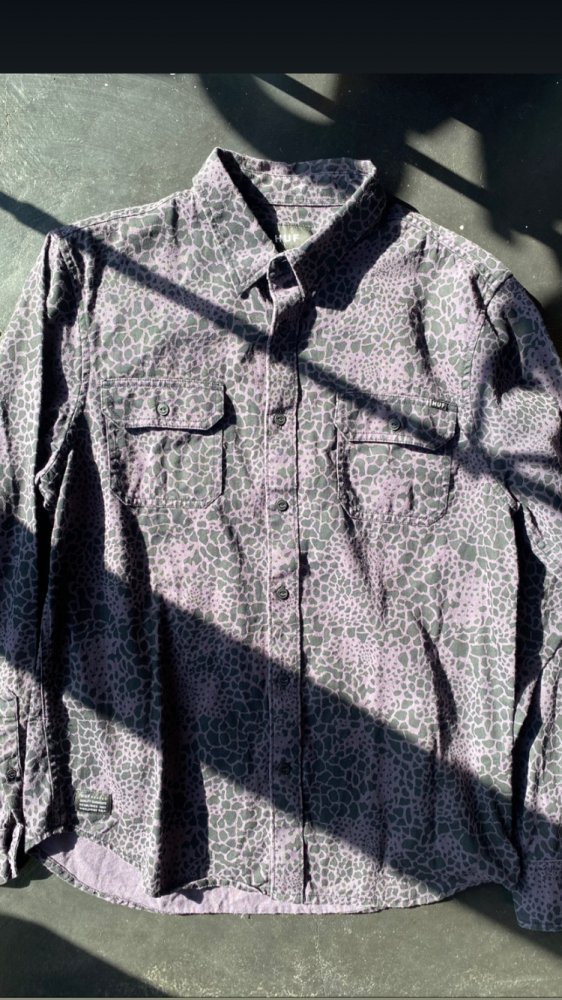 HUF Camouflage Cotton Shirts /Used